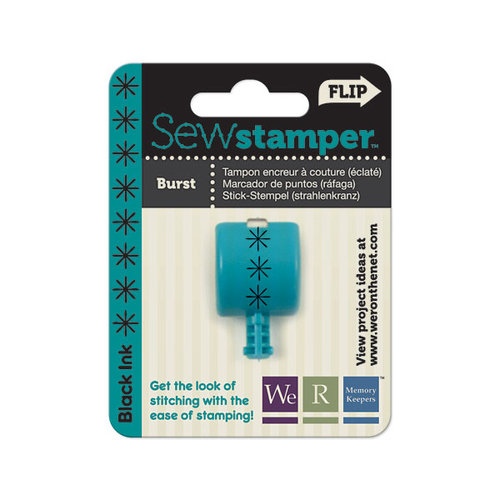 We R Memory Keepers - Sew Stamper - Stamper Attachment Head - Burst Stitch