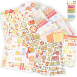 We R Memory Keepers - Promenade Collection - Paper and Embellishment Kit