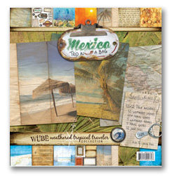 Wubie Prints - Weathered Tropical Traveler Collection - Trip In a Bag - Paper Pack - Mexico - Beach - Vacation