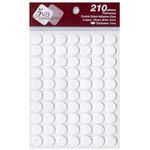 Zva Creative - Adhesive Foam Dots - Permanent - White - 1mm Thickness