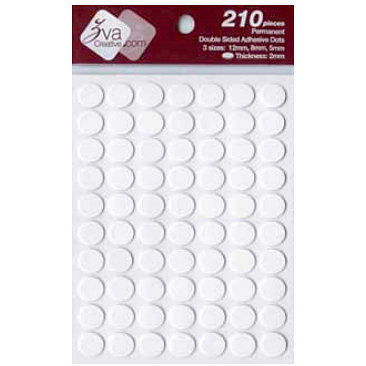 Zva Creative - Adhesive Foam Dots - Permanent - White - 2mm Thickness