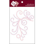 Zva Creative - Self Adhesive Crystals - Enchanting - Pink Crystal and Pearl