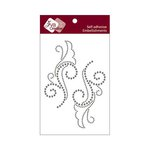 Zva Creative - Self-Adhesive Crystals - Symmetrical Flourishes 1 - Smoke