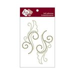 Zva Creative - Self-Adhesive Crystals - Symmetrical Flourishes 1 - Olive and Lime
