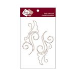 Zva Creative - Self-Adhesive Pearls - Symmetrical Flourishes 1 - Taupe