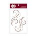 Zva Creative - Self-Adhesive Crystals - Symmetrical Flourishes 2 - Champagne and Chocolate