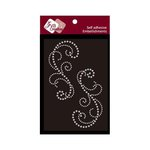 Zva Creative - Self-Adhesive Crystals - Symmetrical Flourishes 3 - Clear
