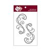 Zva Creative - Self-Adhesive Crystals - Symmetrical Flourishes 3 - Jet