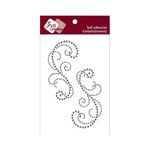 Zva Creative - Self-Adhesive Crystals - Symmetrical Flourishes 3 - Smoke