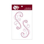 Zva Creative - Self-Adhesive Crystals - Symmetrical Flourishes 3 - Rosy and Pink