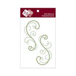 Zva Creative - Self-Adhesive Crystals - Symmetrical Flourishes 3 - Olive and Lime