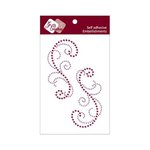 Zva Creative - Self-Adhesive Crystals - Symmetrical Flourishes 3 - Grape and Lavender