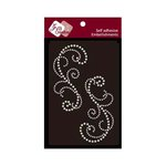 Zva Creative - Self-Adhesive Pearls - Symmetrical Flourishes 3 - White
