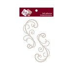 Zva Creative - Self-Adhesive Pearls - Symmetrical Flourishes 3 - Taupe
