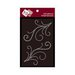 Zva Creative - Self-Adhesive Crystals - Symmetrical Flourishes 4 - Clear
