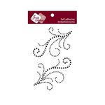 Zva Creative - Self-Adhesive Crystals - Symmetrical Flourishes 4 - Jet