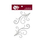 Zva Creative - Self-Adhesive Crystals - Symmetrical Flourishes 4 - Smoke