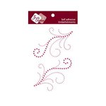 Zva Creative - Self-Adhesive Crystals - Symmetrical Flourishes 4 - Rosy and Pink