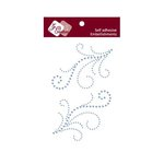 Zva Creative - Self-Adhesive Crystals - Symmetrical Flourishes 4 - Ice Blue