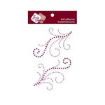 Zva Creative - Self-Adhesive Crystals - Symmetrical Flourishes 4 - Grape and Lavender