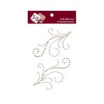 Zva Creative - Self-Adhesive Pearls - Symmetrical Flourishes 4 - Taupe