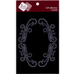 Zva Creative - Self-Adhesive Crystals - Artistry Flourish Frame - Clear, CLEARANCE