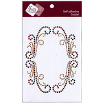 Zva Creative - Self-Adhesive Crystals - Artistry Flourish Frame - Coffee and Chocolate