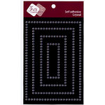 Zva Creative - Self-Adhesive Crystals - Rectangular Frame - Clear, CLEARANCE