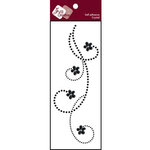 Zva Creative - Self-Adhesive Crystals - Curly Sue - Jet, CLEARANCE