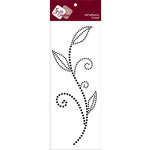Zva Creative - Self-Adhesive Crystals - Leaved Branch - Meadow Vine - Jet, CLEARANCE