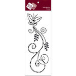 Zva Creative - Self-Adhesive Crystals - Fancy Butterfly - Jet, CLEARANCE