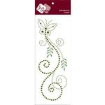 Zva Creative - Self-Adhesive Crystals - Fancy Butterfly - Lime and Olive, CLEARANCE