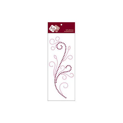 Zva Creative - Self-Adhesive Crystals - Flourishing - Pink and Grape