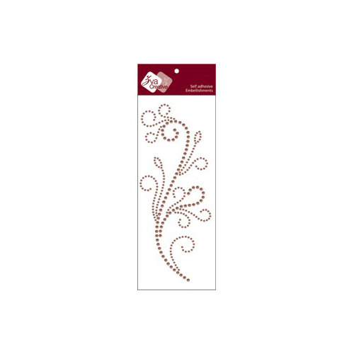 Zva Creative - Self-Adhesive Pearls - Flourishing - Taupe