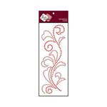 Zva Creative - Self-Adhesive Crystals - Flourish 5 - Red