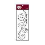 Zva Creative - Self-Adhesive Crystals - Flourish 6 - Jet