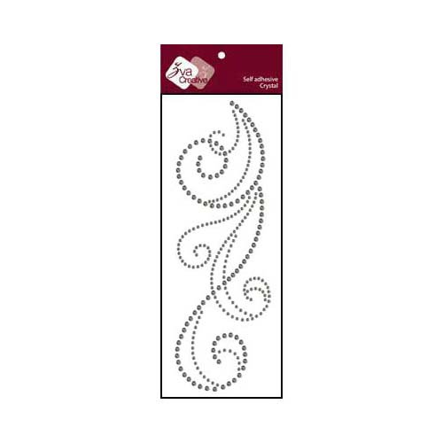 Zva Creative - Self-Adhesive Crystals - Flourish 6 - Smoke
