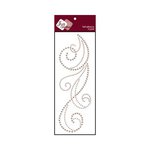 Zva Creative - Self-Adhesive Pearls - Flourish 6 - Taupe