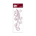 Zva Creative - Self-Adhesive Crystals - Flourish 7 - Purple