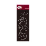Zva Creative - Self-Adhesive Crystals - Flourish 8 - Clear