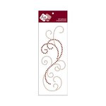 Zva Creative - Self-Adhesive Crystals - Flourish 8 - Champagne and Chocolate