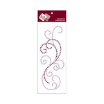 Zva Creative - Self-Adhesive Crystals - Flourish 8 - Grape and Lavender
