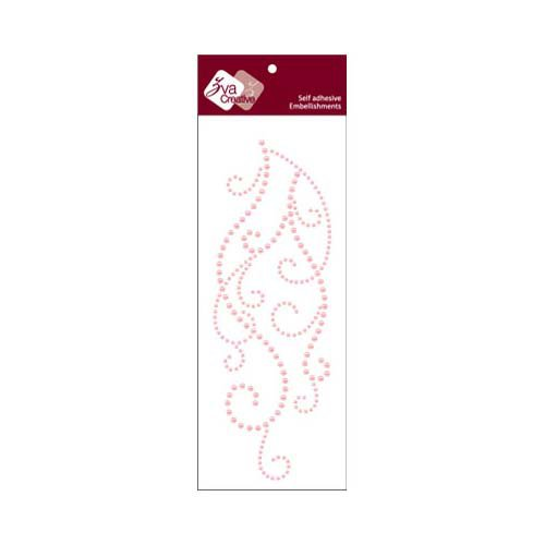 Zva Creative - Self-Adhesive Pearls - Flourish 9 - Pink