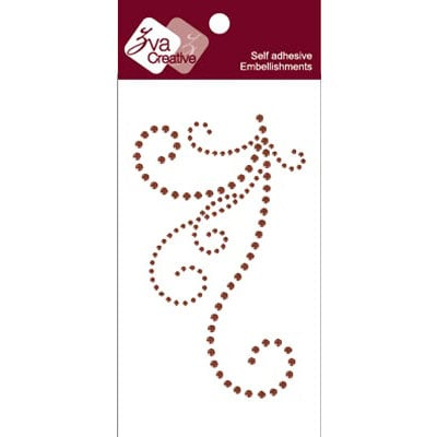Zva Creative - Self-Adhesive Crystals - Flourish III - Chocolate