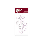 Zva Creative - Self-Adhesive Crystals and Pearls - Flourish 4 -  Lavender