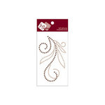 Zva Creative - Self-Adhesive Crystals - Flourish 5 - Champagne and Chocolate