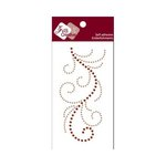 Zva Creative - Self-Adhesive Crystals - Flourish 13 - Champagne and Chocolate