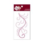 Zva Creative - Self-Adhesive Crystals - Flourish 13 - Rosy and Pink