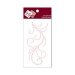 Zva Creative - Self-Adhesive Pearls - Flourish 13 - Pink