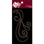 Zva Creative - Self-Adhesive Crystals - Peruet Flourish - Topaz, CLEARANCE